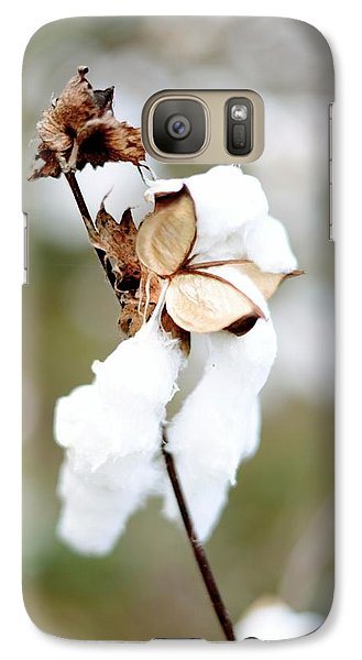 Galaxy Case featuring the photograph Cotton Picking by Linda Mishler