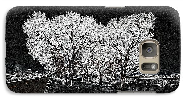 Galaxy Case featuring the digital art Cottonwood Frost by Aliceann Carlton