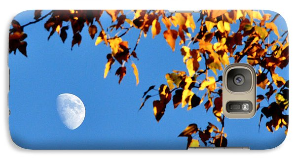 Galaxy Case featuring the photograph Cottonwood Moon by Jan Davies