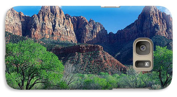 Cottonwood Trees And The Watchman, Zion Galaxy Case by Panoramic Images
