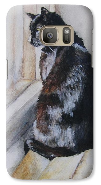 Galaxy Case featuring the drawing Couch Potato by Lori Brackett
