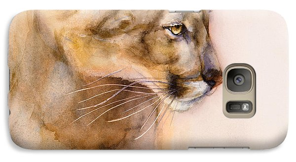 Galaxy Case featuring the painting Cougar On The Prowl by Bonnie Rinier