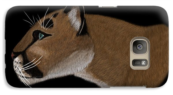 Galaxy Case featuring the digital art Cougar Portrait by Walter Colvin