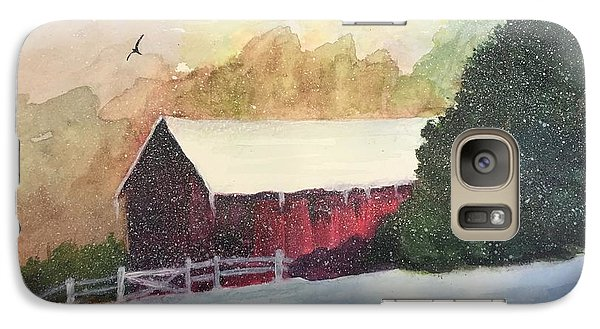 Galaxy Case featuring the painting Country Barn by Lucia Grilletto