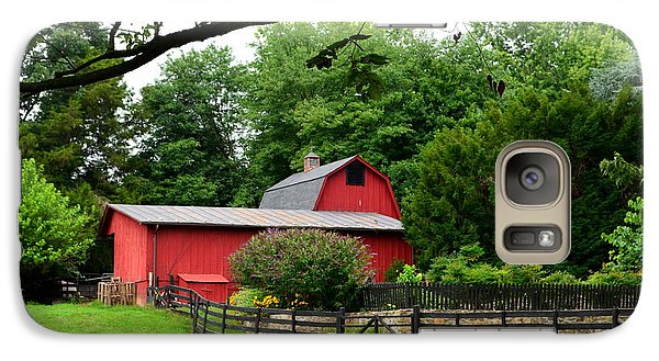 Galaxy Case featuring the photograph Country Barn Vineyard by Cathy Shiflett