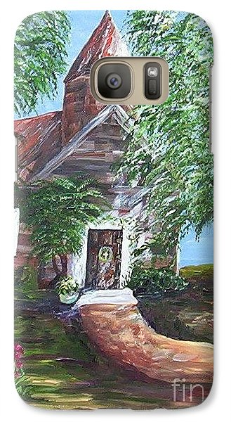 Galaxy Case featuring the painting Country Church by Eloise Schneider