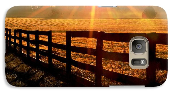Galaxy Case featuring the photograph Country Fence by Carlee Ojeda