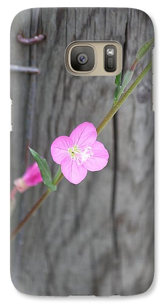 Galaxy Case featuring the photograph Country Flower  by Amy Gallagher