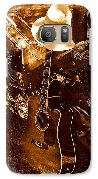 Galaxy Case featuring the photograph Country Harleys by Karen Kersey