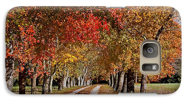 Galaxy Case featuring the photograph Country Lane In Autumn by Jerry Gammon