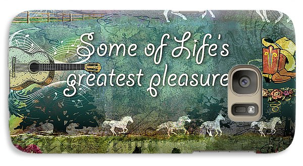Galaxy Case featuring the digital art Country Pleasures by Evie Cook