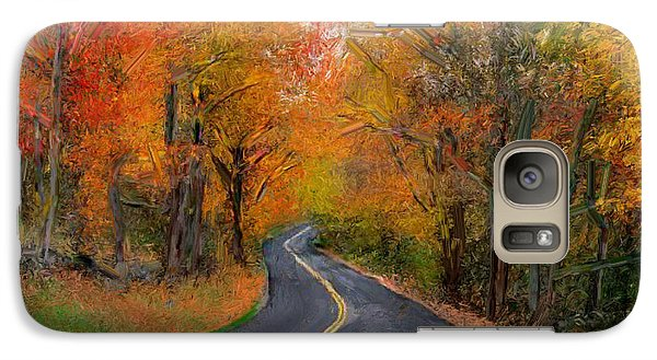 Galaxy Case featuring the painting Country Road In Autumn by Bruce Nutting