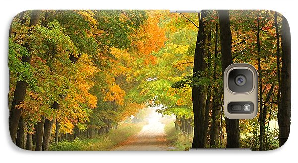 Galaxy Case featuring the photograph Country Road In Autumn by Terri Gostola