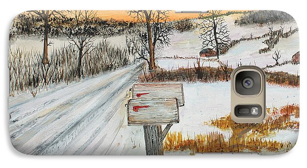 Galaxy Case featuring the painting Country Road Memories by Jack G  Brauer