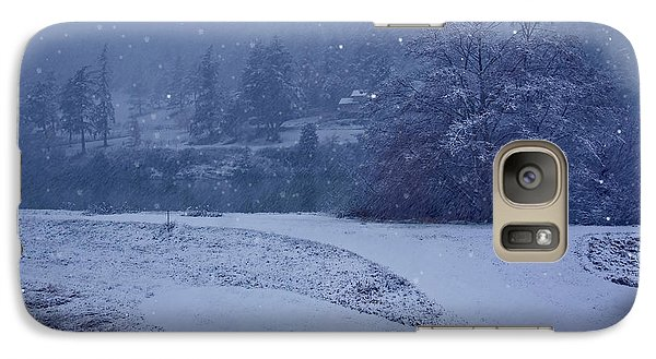 Galaxy Case featuring the photograph Country Snowstorm Landscape Art Prints by Valerie Garner