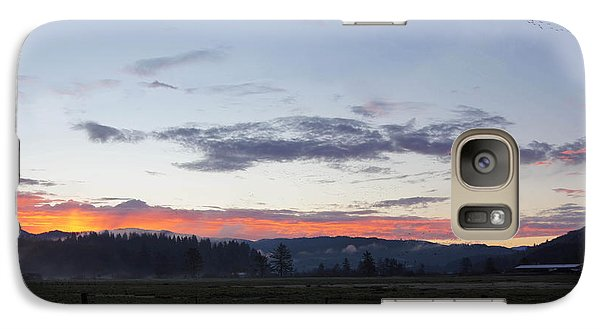 Galaxy Case featuring the photograph Country Sunrise by Angi Parks