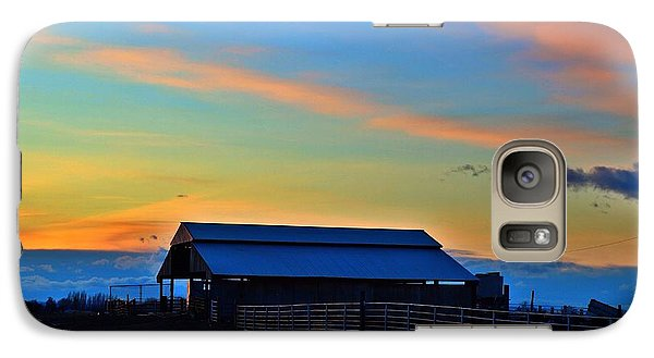 Galaxy Case featuring the photograph Country Sunset by Lynn Hopwood