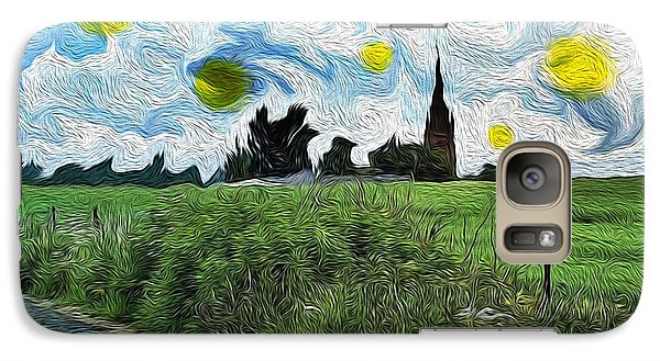 Galaxy Case featuring the digital art Countryside Impressioniism by Mary M Collins