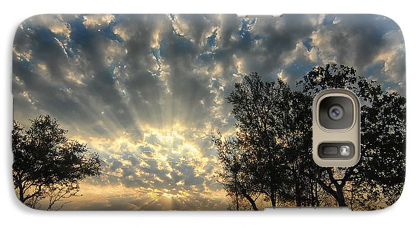 Galaxy Case featuring the photograph Countryside Sunrise by Susan D Moody