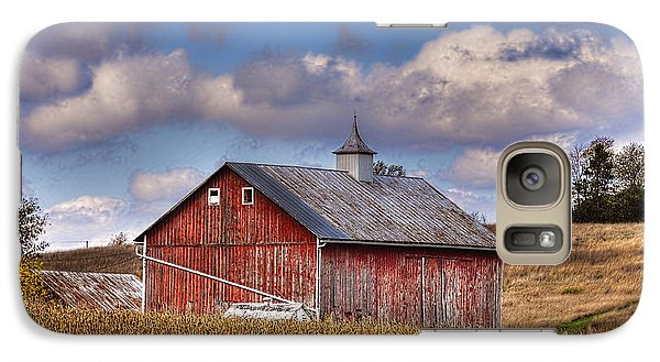 Galaxy Case featuring the photograph County G Barn In Autumn by Trey Foerster