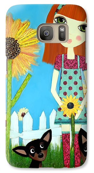 Galaxy Case featuring the painting Courage 2 by Laura Bell