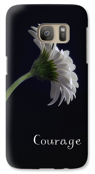 Galaxy Case featuring the photograph Courage by Kim Andelkovic