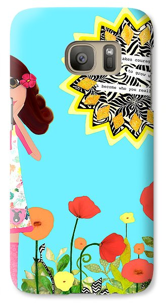 Galaxy Case featuring the painting Courage by Laura Bell