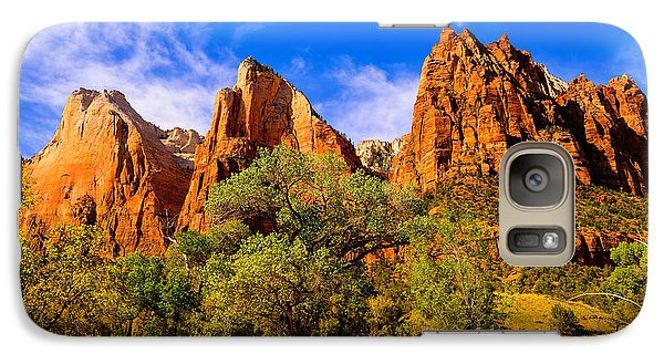Galaxy Case featuring the photograph Court Of The Patriarchs by Greg Norrell