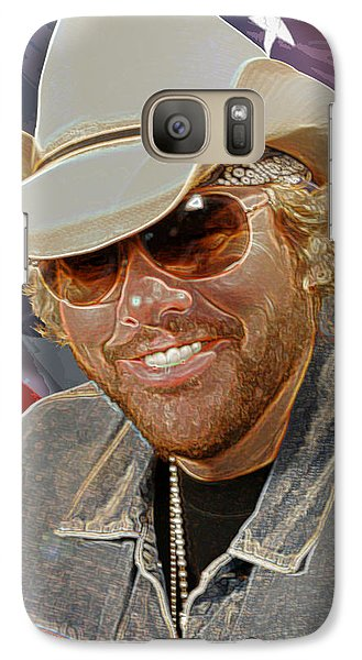 Galaxy Case featuring the photograph Courtesy Of The Red White And Blue  Toby Keith by Don Olea