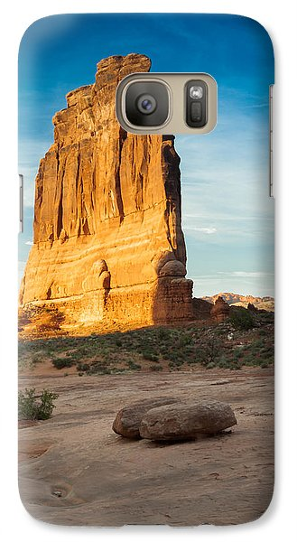 Galaxy Case featuring the photograph Courthouse Rock by Jay Stockhaus