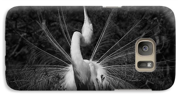 Galaxy Case featuring the photograph Great Egret Courtship Plumes  by John F Tsumas
