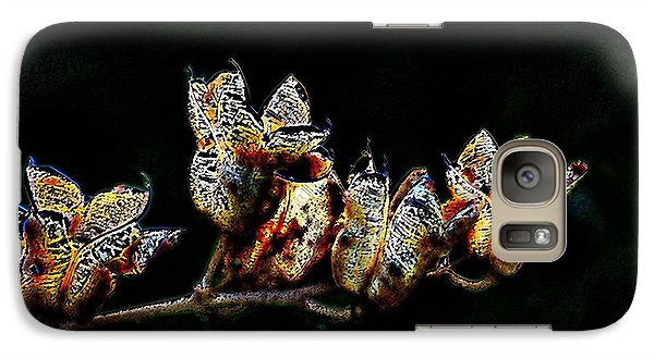 Galaxy Case featuring the digital art Cove Weeds by Kathleen Stephens