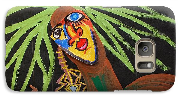 Galaxy Case featuring the painting Cover Up Girl by Cleaster Cotton