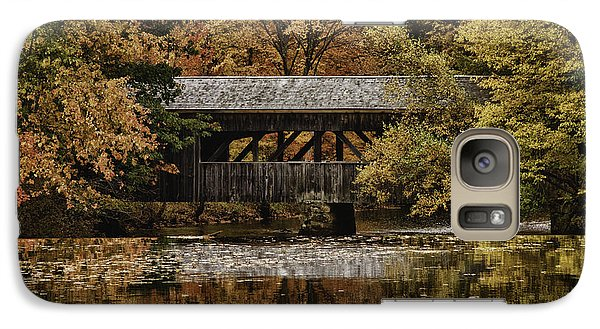 Galaxy Case featuring the photograph Covered Bridge At Sturbridge Village by Jeff Folger