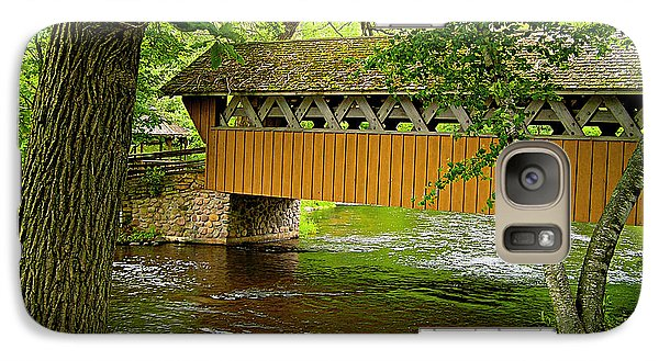 Galaxy Case featuring the photograph Covered Bridge At The Red Mill by Judy  Johnson