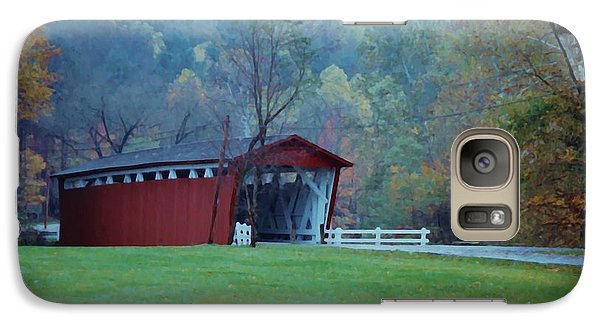 Galaxy Case featuring the photograph Covered Bridge by Diane Alexander