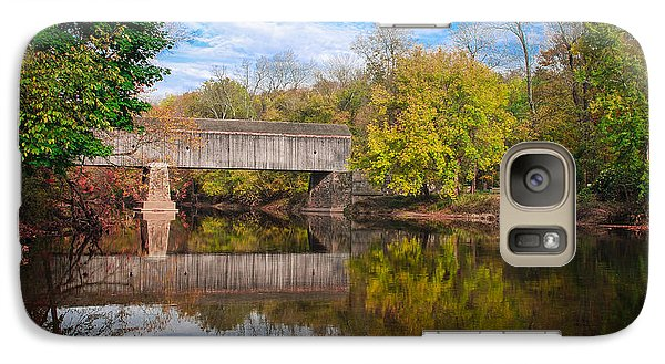 Galaxy Case featuring the photograph Covered Bridge In Autumn by Phil Abrams