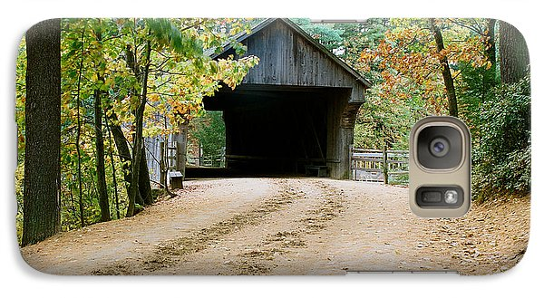 Galaxy Case featuring the photograph Covered Bridge In October by Vinnie Oakes