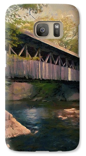 Galaxy Case featuring the painting Covered Bridge by Jeff Kolker