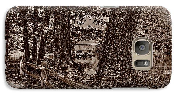 Galaxy Case featuring the photograph Covered Bridge by Nigel Fletcher-Jones