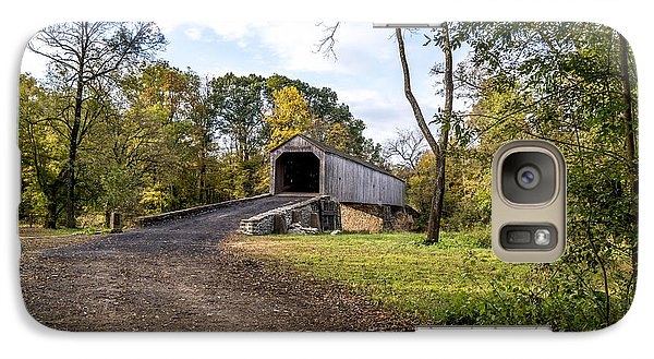 Galaxy Case featuring the photograph Covered Bridge by Phil Abrams