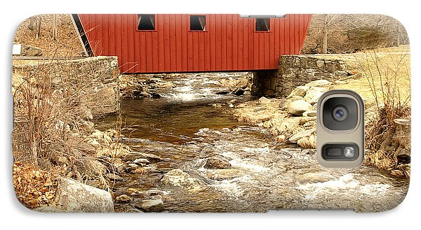 Galaxy Case featuring the photograph Covered Bridge by Raymond Earley