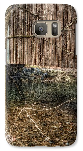 Galaxy Case featuring the photograph Covered Bridge Snowy Day by Susan Maxwell Schmidt