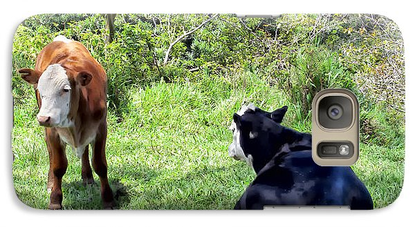 Galaxy Case featuring the photograph Cow 4 by Dawn Eshelman