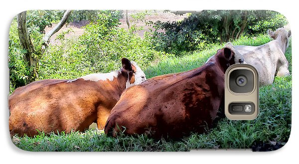 Galaxy Case featuring the photograph Cow 6 by Dawn Eshelman