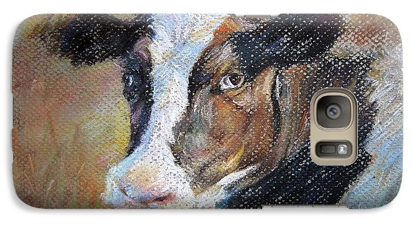 Galaxy Case featuring the painting cow by Jieming Wang