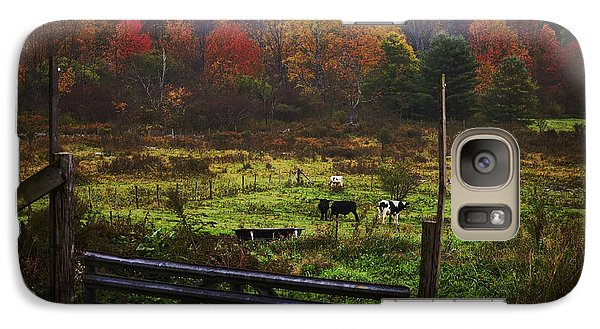 Galaxy Case featuring the photograph Cow Pasture In Autumn by Debra Fedchin