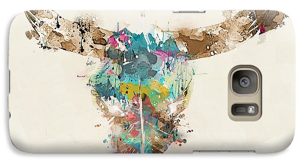 Bull Galaxy S7 Case - Cow Skull by Bri Buckley