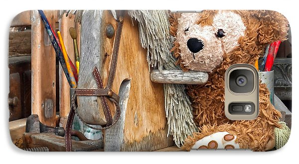 Galaxy Case featuring the photograph Cowboy Bear by Thomas Woolworth
