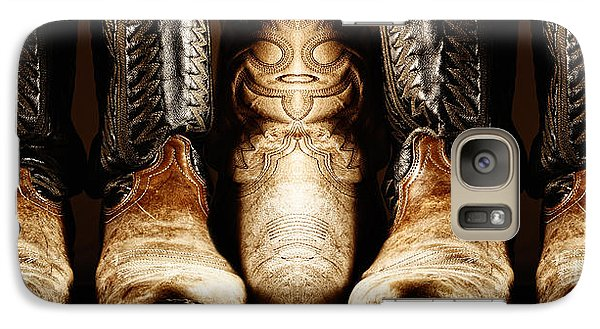 Galaxy Case featuring the photograph Cowboy Boots Composite by Lincoln Rogers